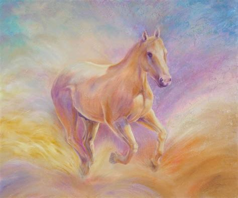 Adding Texture To Paint - watch the custom horse painting demo of river stage 4 celebrating color