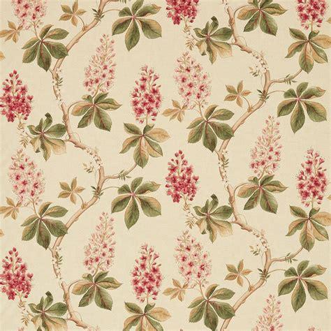 tree pattern fabric uk chestnut tree fabric coral bayleaf 225517 sanderson