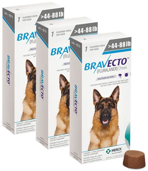 bravecto for dogs reviews bravecto for large dogs 20 40kg 3 pack atlantic pet products