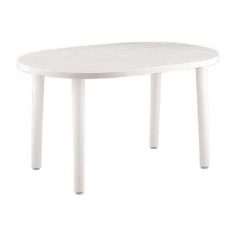 white plastic patio table buy resol gala outdoor oval garden table white plastic 140 x 90cm from our plastic garden