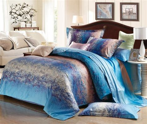queen size bed comforter set blue grey stripe satin comforter bedding set king size