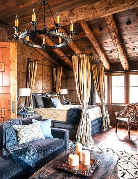mountain rustic bedrooms cabin fever    interior homes
