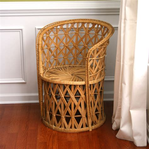 home decor chairs vintage rattan chair reserved fall autumn home decor
