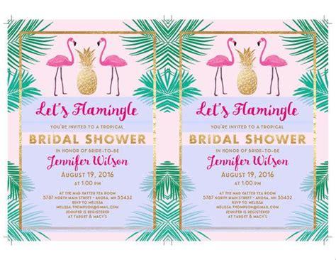 Let S Flamingle Printable Bridal Shower Invitation Template Flamingo Party Wedding Shower Flamingo Invitation Template Free