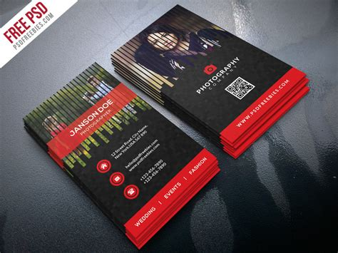 photographer visiting card templates psd professional photographer business card psd bundle