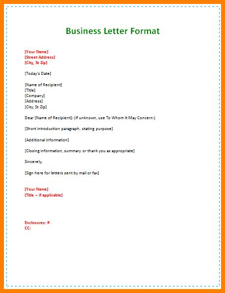 business letter format and exle 7 letter setup exle letter format for