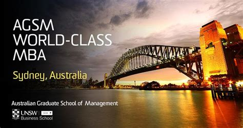 Australian School Of Business Agsm Mba Fees by Agsm Programs Webinar Unsw Business School