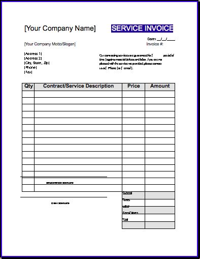 template invoice contractor download contractor sle invoice rabitah net