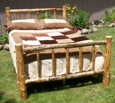 California King Pine Bed Frame 1000 Images About Log Bed Frames On