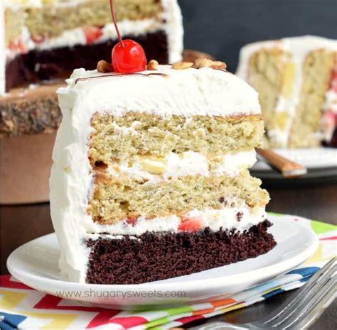 split cakes banana split cake shugary