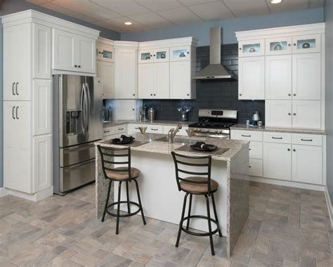 rta wood kitchen cabinets all wood kitchen cabinets 10x10 frosted white shaker rta free shipping ebay