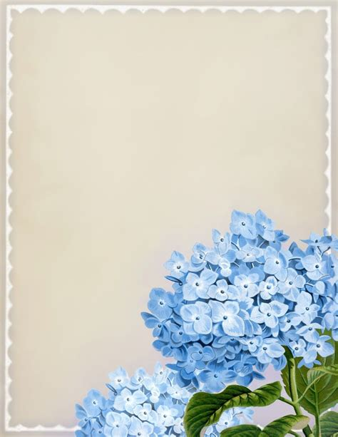 printable blue flowers quot in full bloom quot vintage blue hydrangea printable