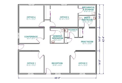 floor plan of office building small office floor plan room and a conference room