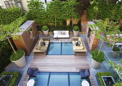 Toit Terrasse Jardin by Terrasse Jardin Contemporain Sur Toit D Immeuble Arbre