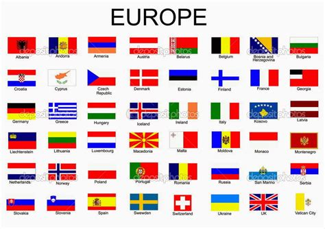 flags of the world without names all you need is english vocabulary countries european