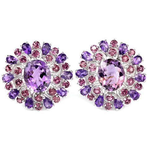 Amethyst Brazil Pink Purple Purple Amethyst Rhodolite Garnet Earrings