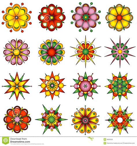 design in flower variety of flower designs stock vector illustration of