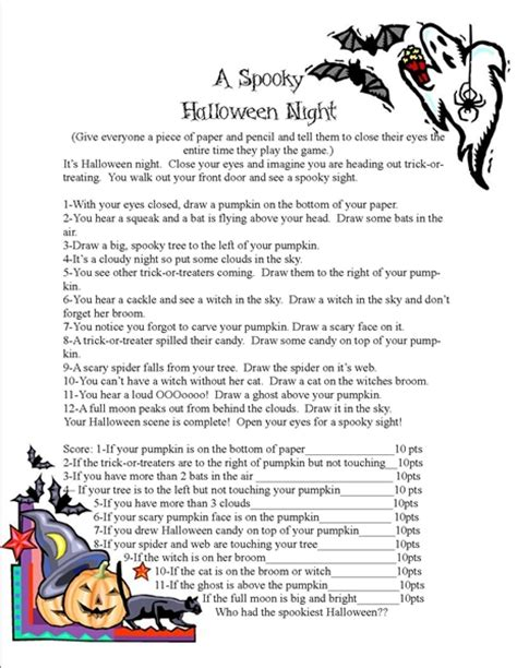 printable children s ghost stories frightening and fun halloween food ideas