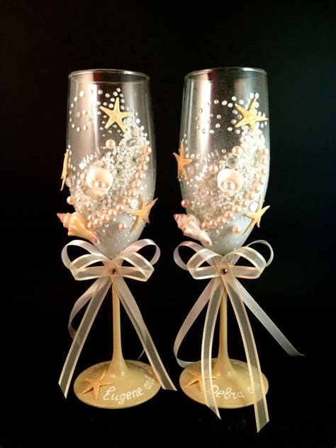 17 best images about decorated wedding glasses on
