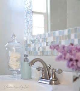 mirror borders bathroom diy mosaic tile bathroom mirror centsational