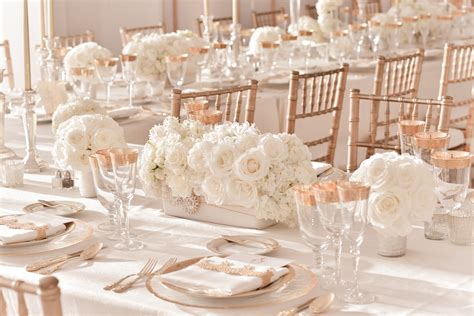 Ivory Wedding by Ivory Wedding Centerpieces With Gold Table
