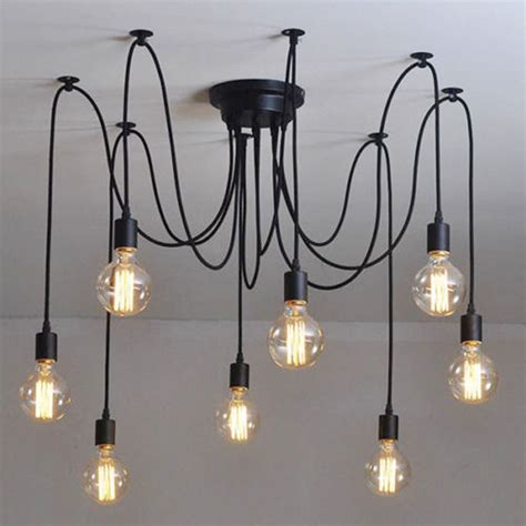 Ceiling Chandelier Lighting Industrial Chandelier Ceiling Light Fixture L Light Pendant Lighting Vintage Ebay