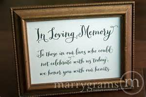 In Loving Memory Wedding Sign In Loving Memory Sign Table Card Wedding Reception Seating