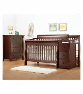 sorelle tuscany 2 nursery set in cherry crib 4