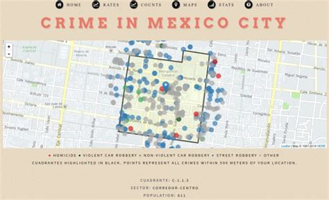 crime tracker how to create crime maps of mexico city