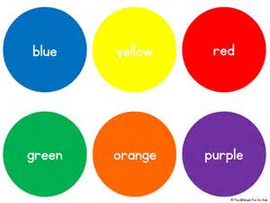 basic colors basic color circles simple for