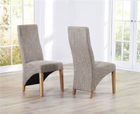Dining Fabric Chairs Marco Oak Tweed Fabric Dining Chairs Oak Furniture Solutions