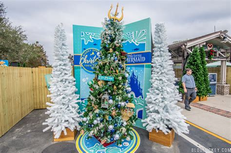 photos 2017 christmas tree trail opens at disney springs