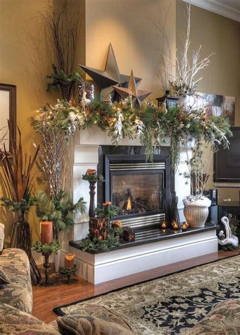 Christmas Fireplace Decorating Ideas Mantel Christmas Home Decor Trend Home Design And Decor