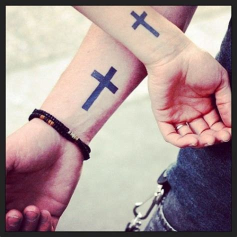 matching cross tattoos 25 trending cross tattoos ideas on