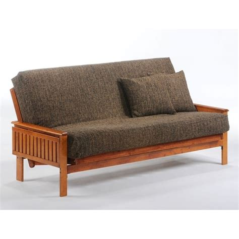 day and night futon night and day winston full wood futon frame in hickory