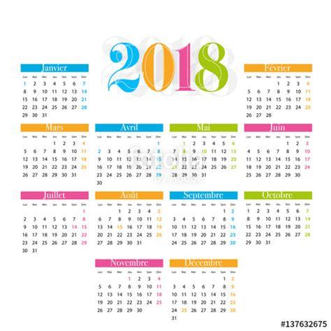 Calendrier 2018 0 Imprimer Quot Calendrier 2018 Quot Fichier Vectoriel Libre De Droits Sur La
