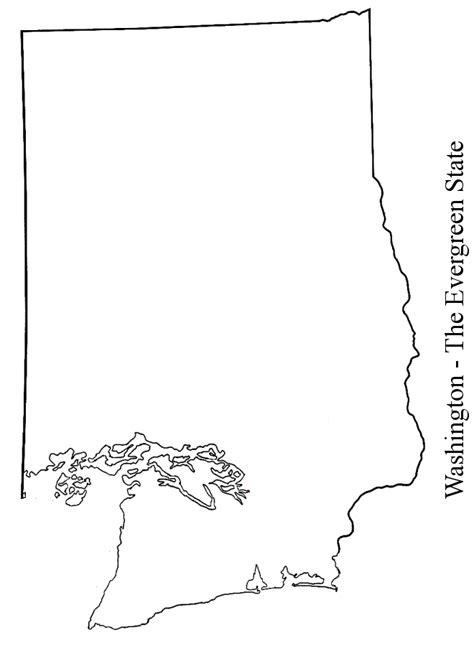 Blank Outline Map Of Washington State by Documents Crocker S Homework Log