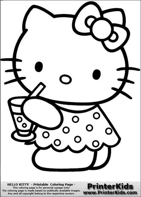 hello kitty car coloring pages cute hello kitty drinking water coloring page car