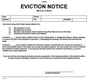 Landlord Eviction Letter Template Sample Eviction Notice Letter 8 Free Documents In Pdf Word