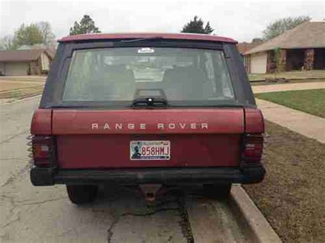 old car repair manuals 1991 land rover range rover navigation system purchase used 1991 land rover range rover classic in tulsa oklahoma united states for us