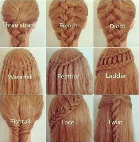 different types of hair styles in long hair step by step different styles of braids