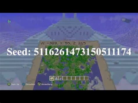 minecraft xbox 360/ps3 seed ice spike biome, witch hut