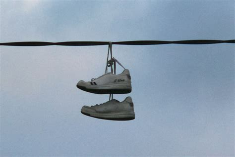 hanging photos on wire glashagh shoes hanging on power wires 169 joseph