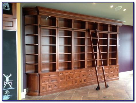 bookcase with rolling ladder bookshelves rolling ladder bookcase home design ideas