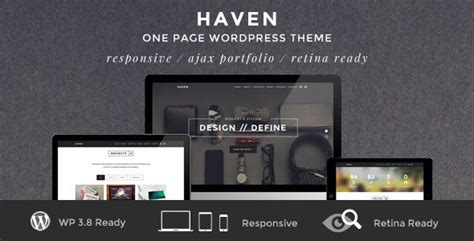 themeforest pages haven elegant one page wordpress theme by bitfade