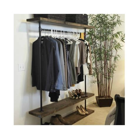 ird shelf clothing rack industrial furniture pipe