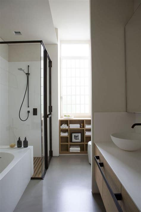 badkamermeubel hout en staal badkamer met zwart staal en hout badkamers voorbeelden