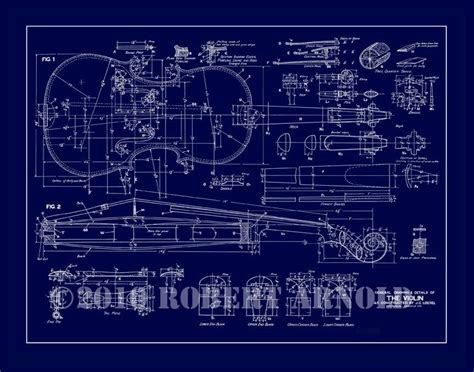 blueprint maker blueprint of a 19th c violin maker s plans 11 x