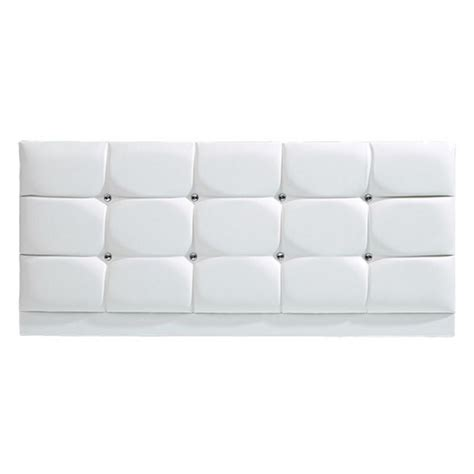 faux leather diamond king size headboard white allied