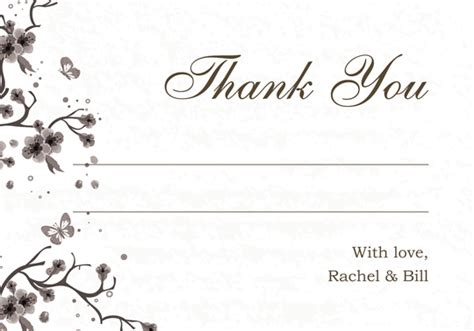free printable wedding thank you cards templates printable exles wedding thank you and response
